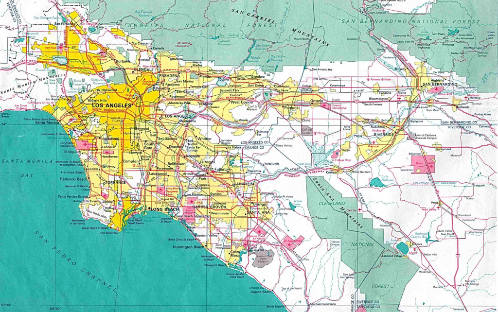 Los Angeles Ca Map With Zip Codes – Map Of Usa District - Los Angeles Zip Code Map Printable
