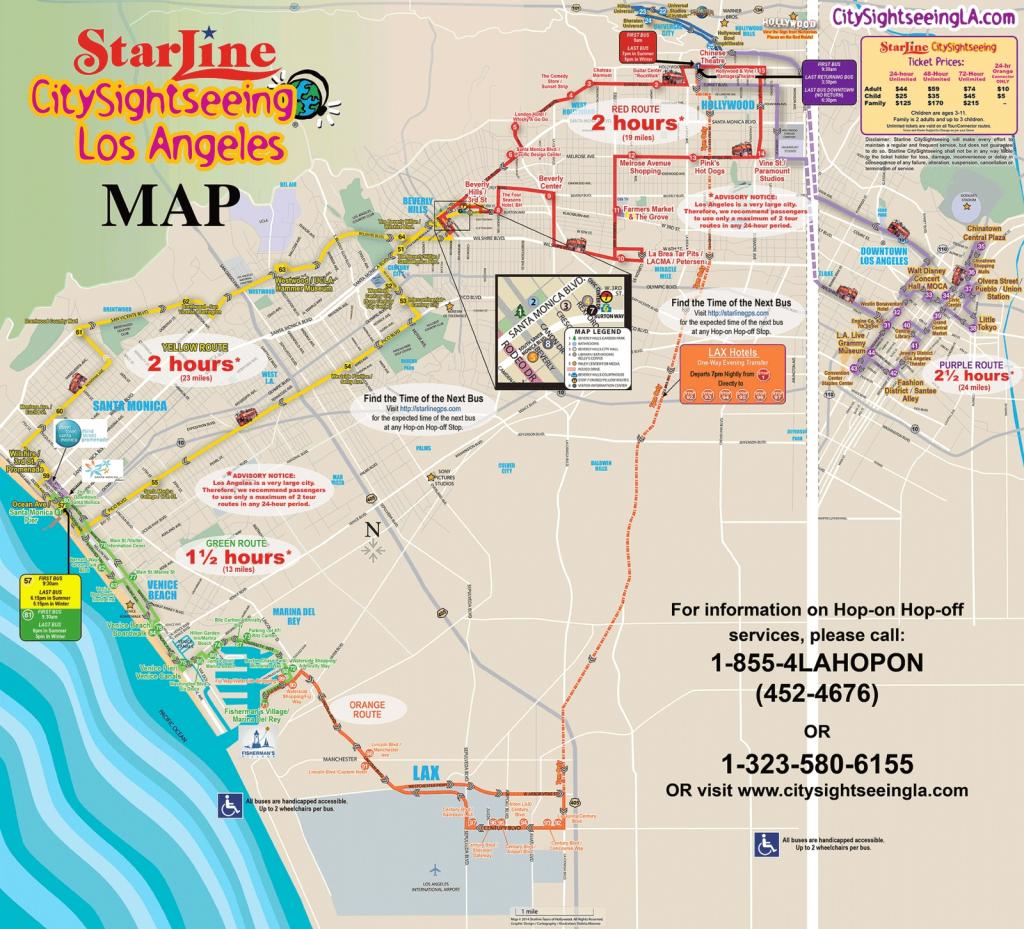 Los Angeles California Attractions   La Sightseeing Tours With Los - California Sightseeing Map