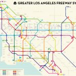 Los Angeles Freeways   Printable Map Of Southern California Freeways