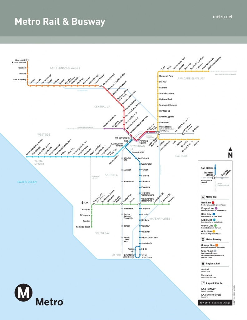Los Angeles Metro Guide When You Want To Explore La Without A Car - California Metro Map