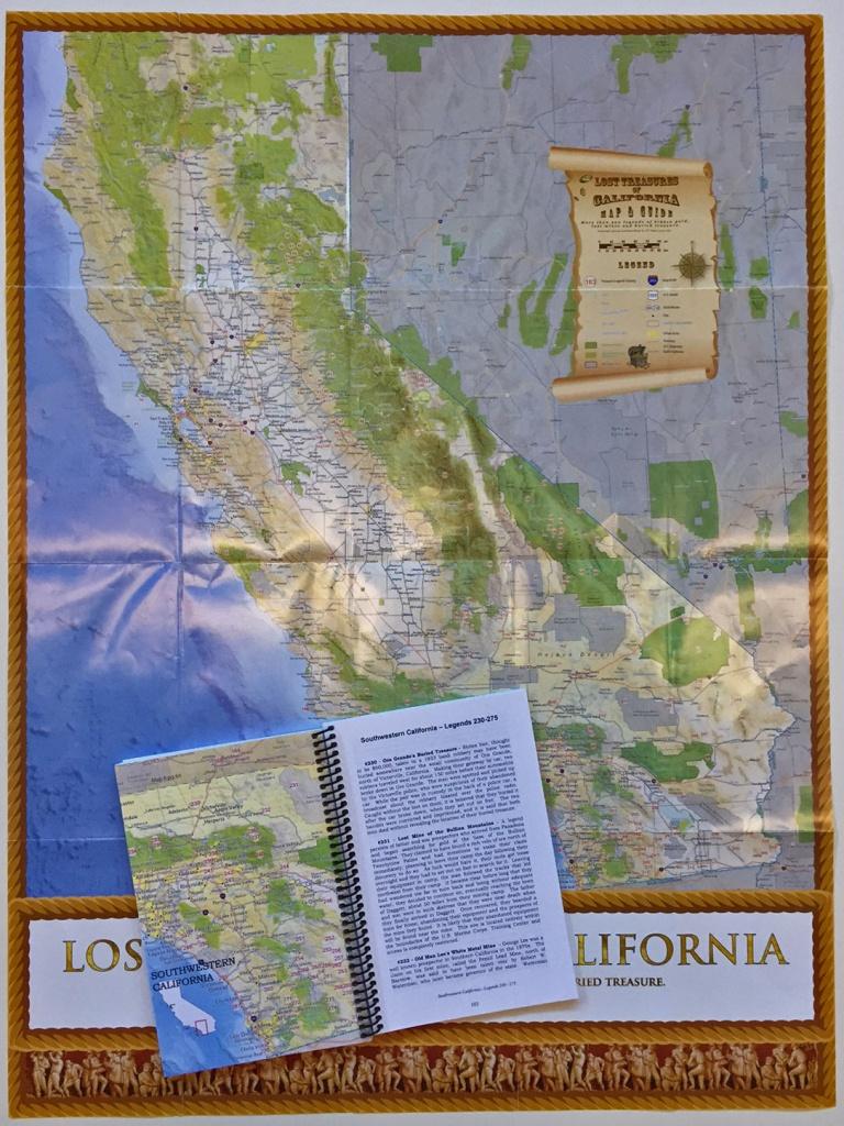 Lost Treasures Of California - Map And Guide - California Map Book