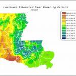 Louisiana Estimated Deer Breeding Periods | Louisiana Department Of - Deer Rut Map Texas
