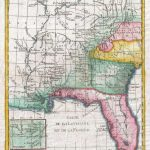 Louisiana, Florida And Carolina Map Poster, Canvas, Print - Florida Map Poster