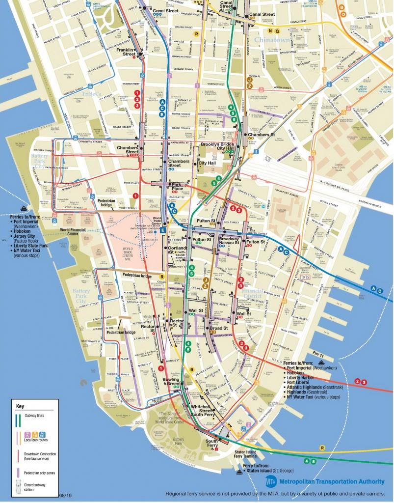 Lower Manhattan Map - Go! Nyc Tourism Guide - Printable Map Manhattan Pdf