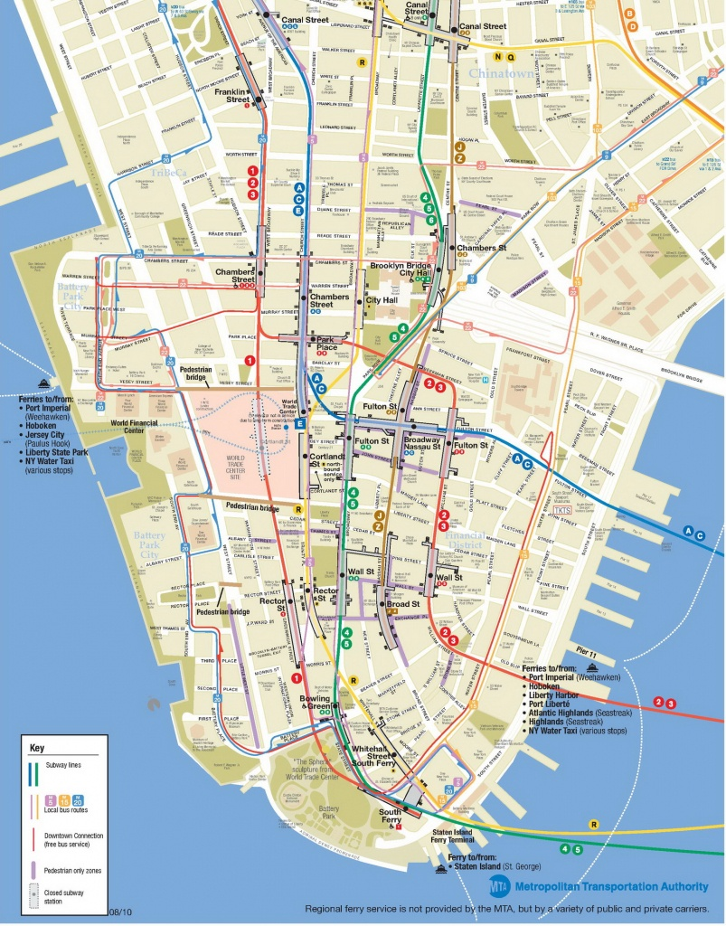 Lower Manhattan Map - Go! Nyc Tourism Guide - Printable Map Of Manhattan Pdf