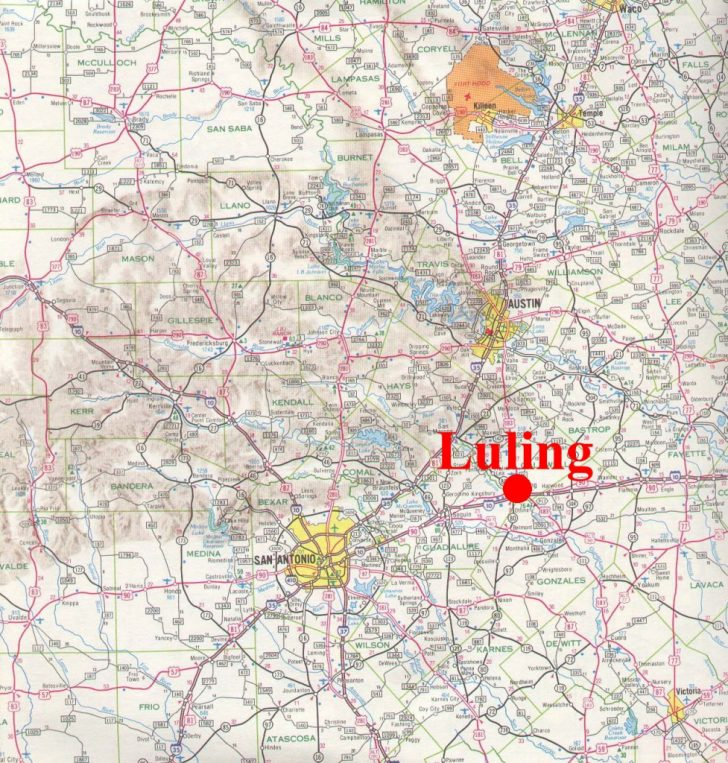 Luling Texas Map