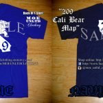 M.o.e. Unltd. Clothing | 209 Cali Bear Map Men's T Shirt | Online   California Map Shirt