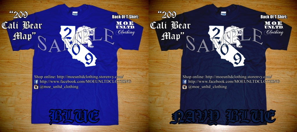 M.o.e. Unltd. Clothing | 209 Cali Bear Map Men's T-Shirt | Online - California Map Shirt