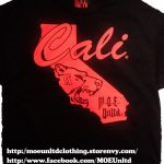M.o.e. Unltd. Clothing | Cali Men's Black/red T Shirt | Online   California Map Shirt