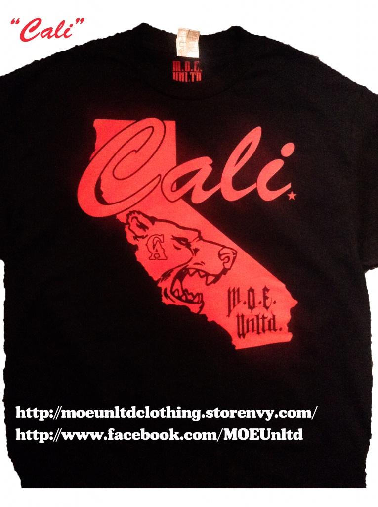 M.o.e. Unltd. Clothing   Cali Men's Black/red T-Shirt   Online - California Map T Shirt