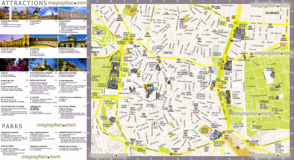Madrid Maps - Top Tourist Attractions - Free, Printable City Street - Printable Map Of Madrid
