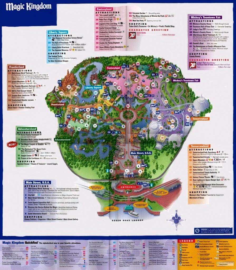 Magic Kingdom - Florida Theme Parks - Map Of Magic Kingdom Orlando Florida