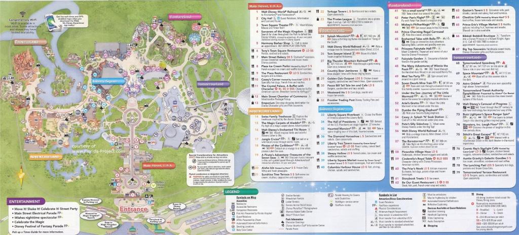 Magic Kingdom Guidemaps - Printable Magic Kingdom Map 2017