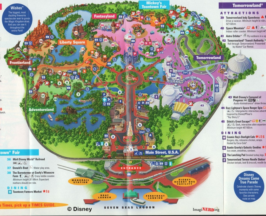 Magic Kingdom Maps Galore! - Imaginerding - Magic Kingdom Florida Map