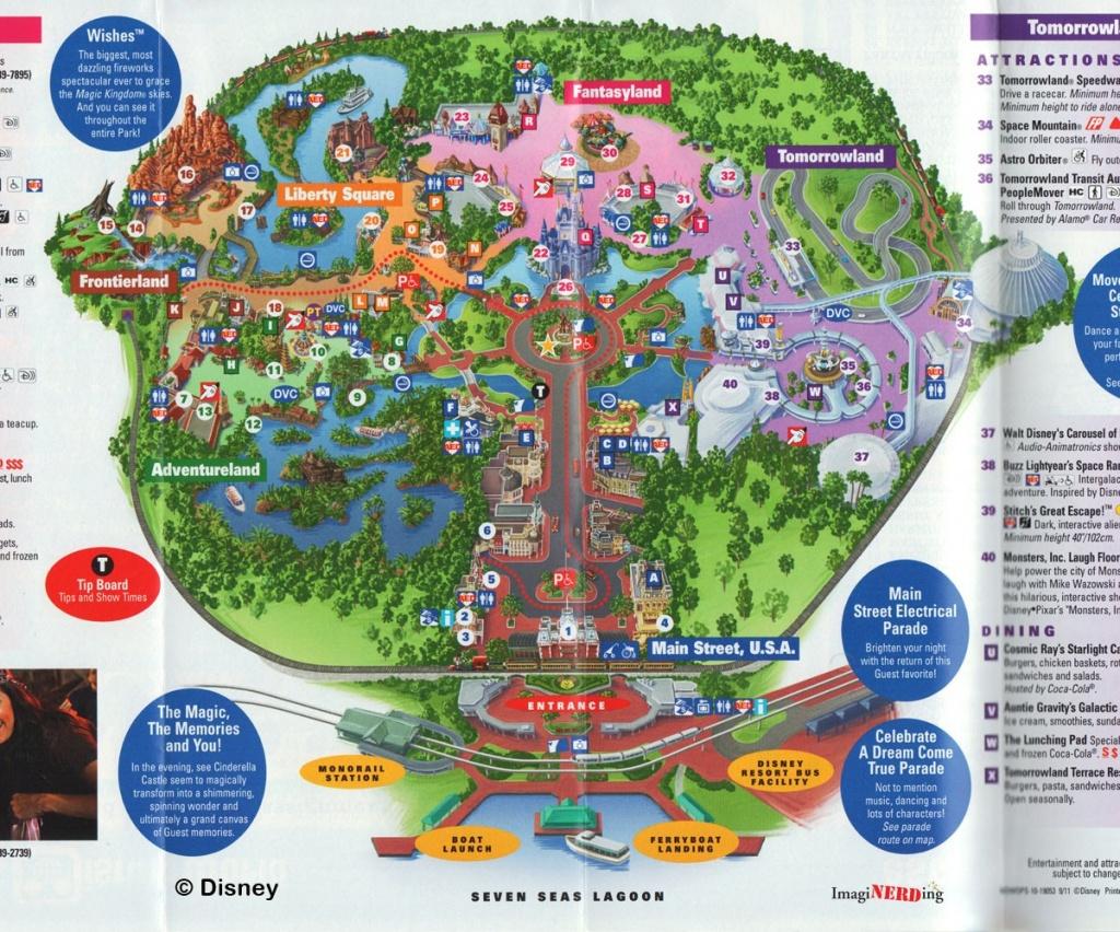 Magic Kingdom Maps Galore! - Imaginerding - Map Of Magic Kingdom Orlando Florida