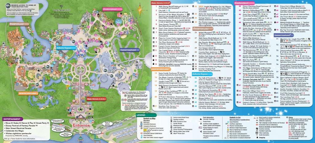 Magic Kingdom Park Map And Links To Other Dw Park Maps   Disney - Disney World Florida Theme Park Maps