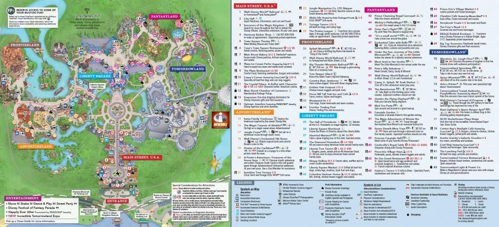 Magic Kingdom Park Map   Disney In 2019   Disney World Map, Magic - Disney World Florida Theme Park Maps