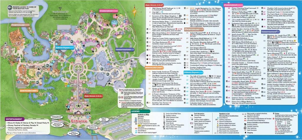Magic Kingdom Park Map - Walt Disney World | Disney World In 2019 - Printable Magic Kingdom Map