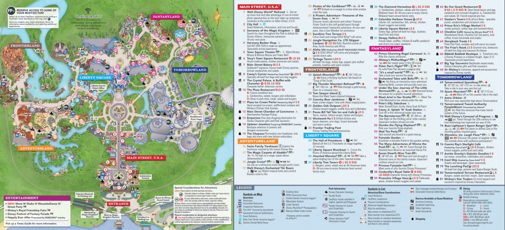 Magic Kingdom Park Map - Walt Disney World - Magic Kingdom Florida Map