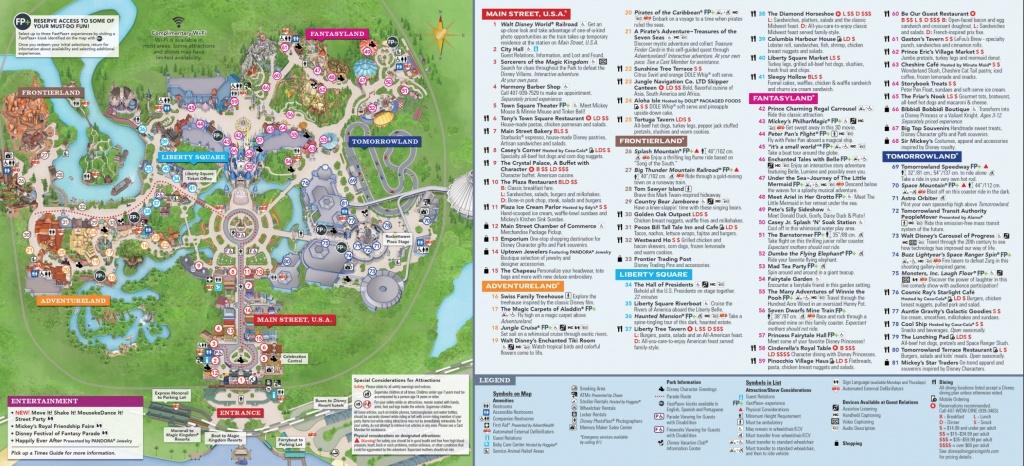 Magic Kingdom Park Map - Walt Disney World - Walt Disney Florida Map