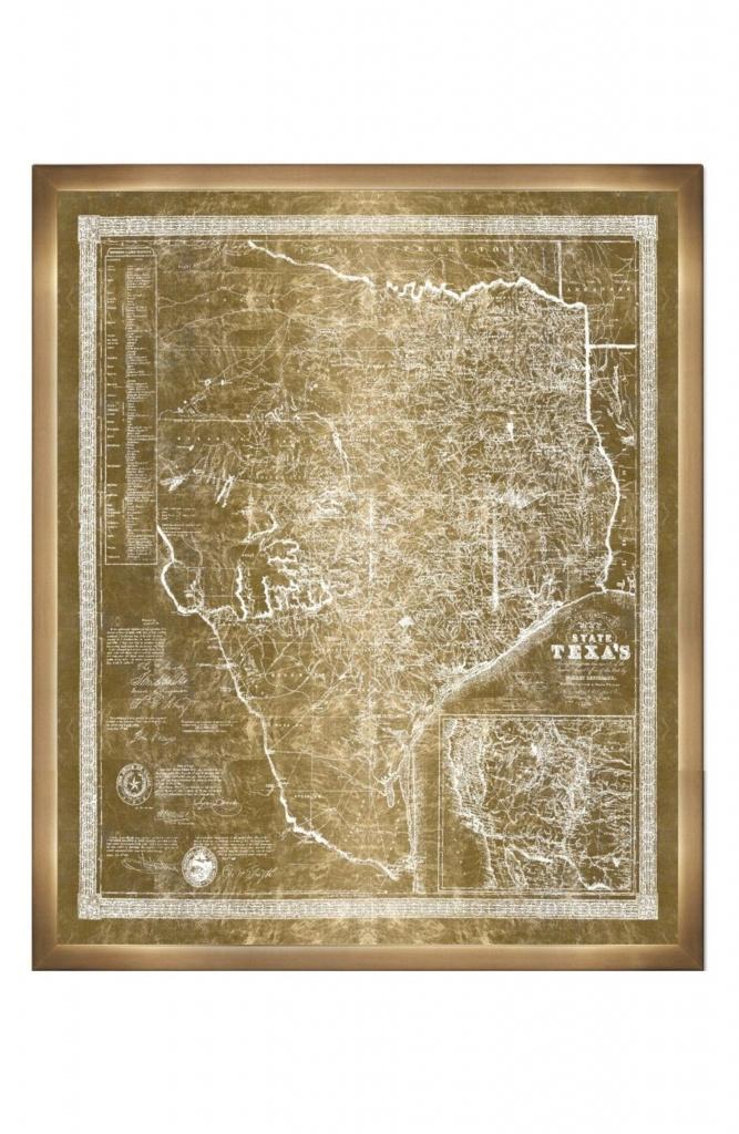 Main Image - Oliver Gal Texas Map 1956 Framed Art Print   Dream Home - Texas Map Framed Art