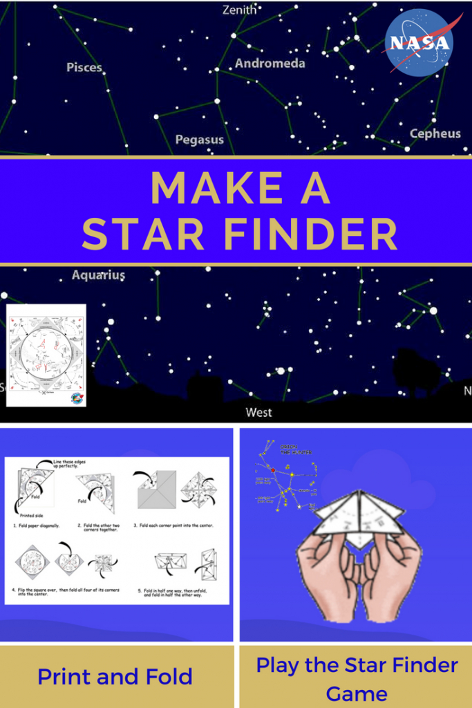 "Make A Star Finder -- Fold A Printable Sky Map Like A Paper ""fortune - Printable Sky Map"