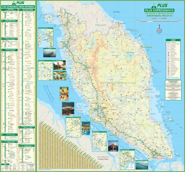 Printable Map Of Malaysia