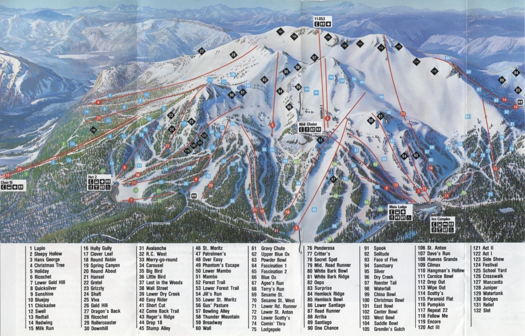 Mammoth Mountain - Skimap - Mammoth Mountain Map California