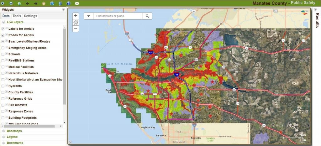Manatee County Updates Hurricane Storm Surge Maps - News - Sarasota - Sarasota County Florida Elevation Map