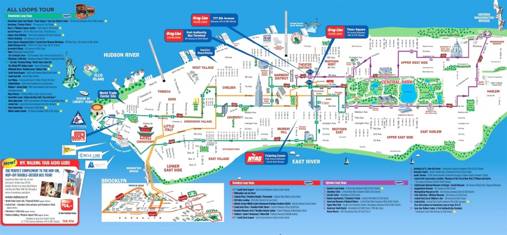 Manhattan Attractions Map And Travel Information | Download Free - Printable Map Of New York City Landmarks