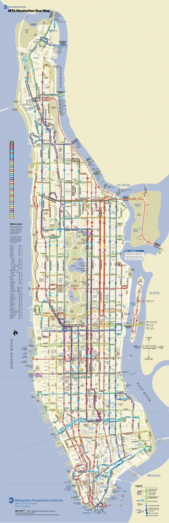 Manhattan Bus | מידע כללי | Bus Map, Map Of New York, Bus Travel - Printable Manhattan Bus Map