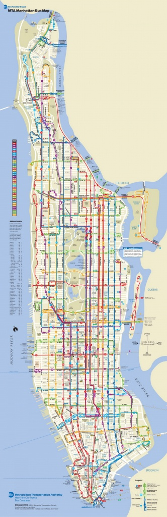 Manhattan Carte De Bus - Nyc Carte De Bus De Manhattan (New York - Printable Manhattan Bus Map