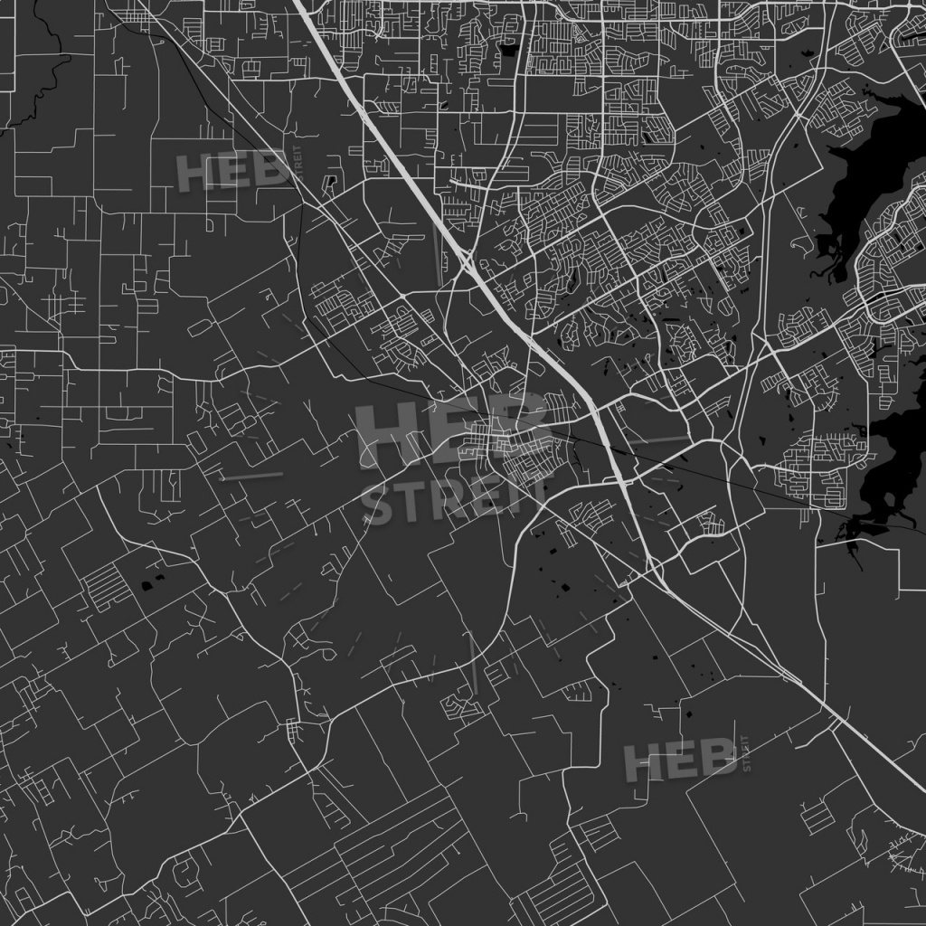 Mansfield, Texas - Area Map - Dark | Hebstreits Sketches - Mansfield Texas Map