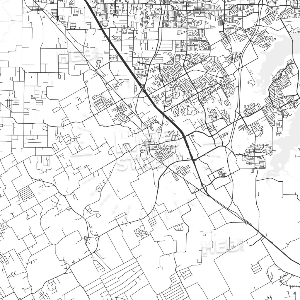 Mansfield, Texas - Area Map - Light | Hebstreits Sketches - Mansfield Texas Map
