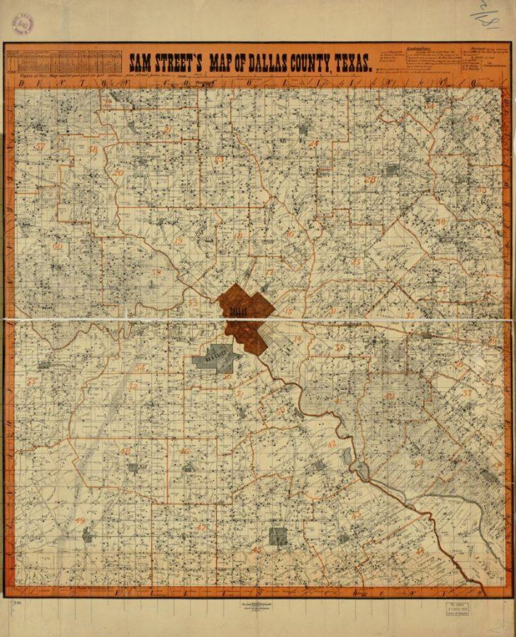 Map Records Dallas County Texas