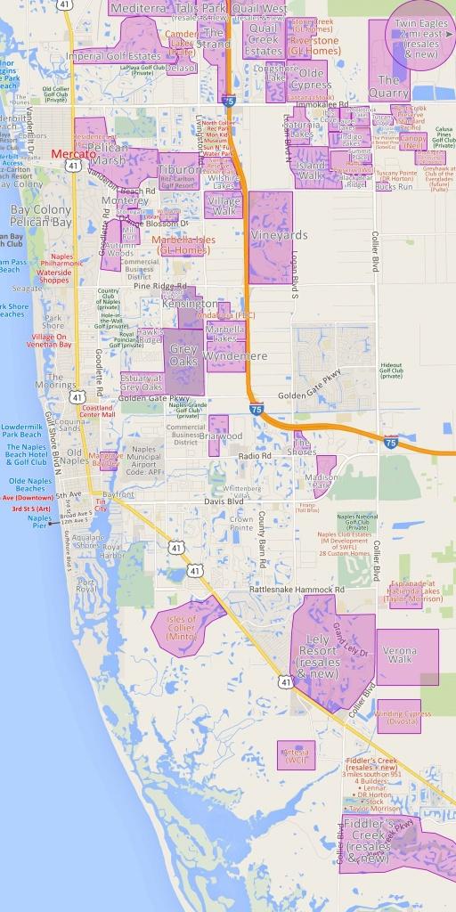 Map 20 Naples Fl Map   Ageorgio - Pelican Bay Florida Map