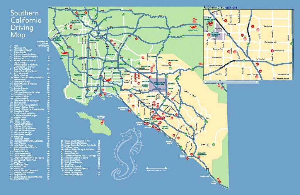 Map Anaheim California Surrounding Areas – Map Of Usa District - Map Showing Anaheim California