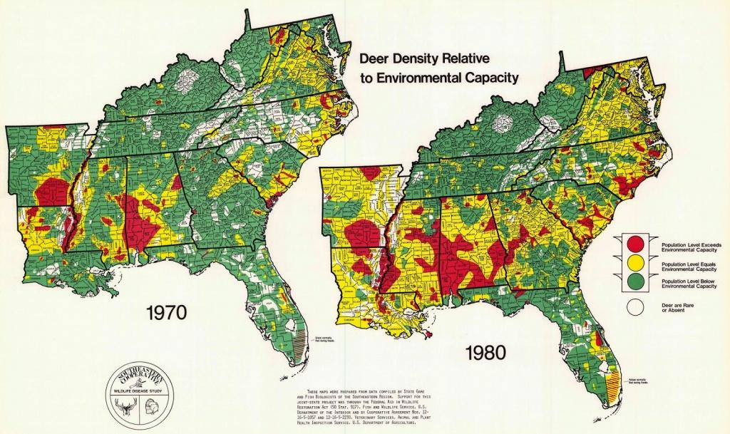 Map Analysis Blog Project: Deer Density - Mule Deer Population Map Texas