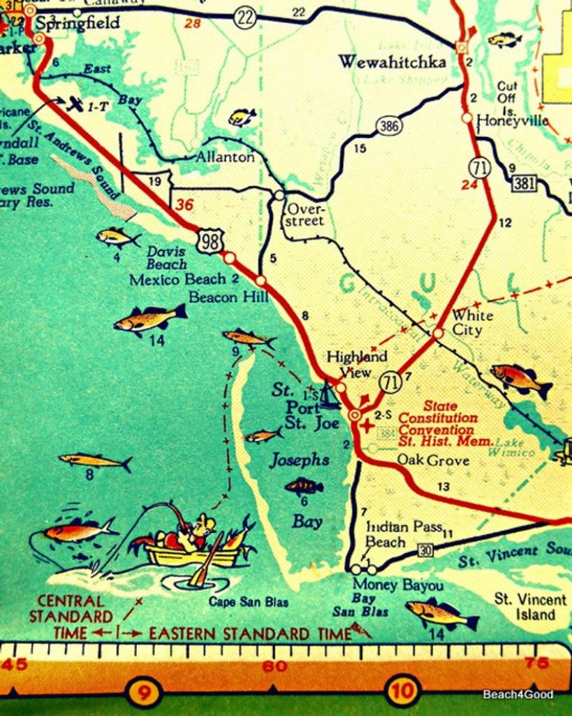 Map Art 8X10 Port St Joe Mexico Beach Florida Beach Wall Art | Etsy - St Joe Florida Map