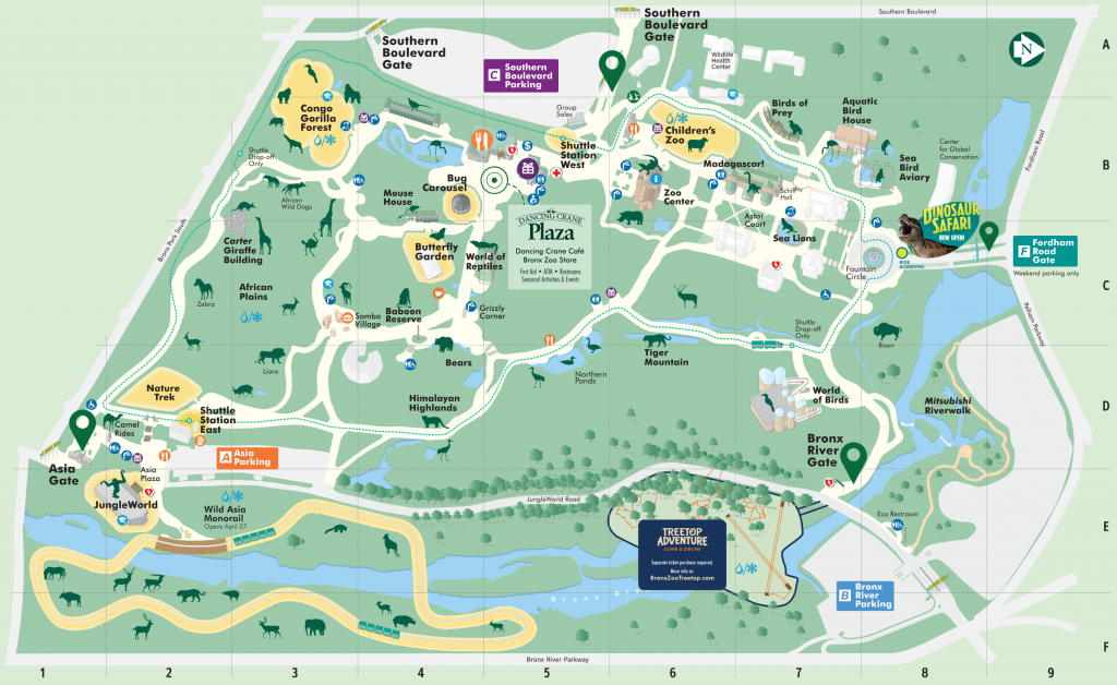 Map - Bronx Zoo - Printable Detroit Zoo Map