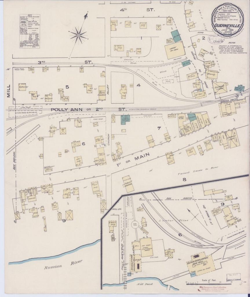 Map, California, Sonoma County   Library Of Congress - Thomas Guide Southern California Arterial Map