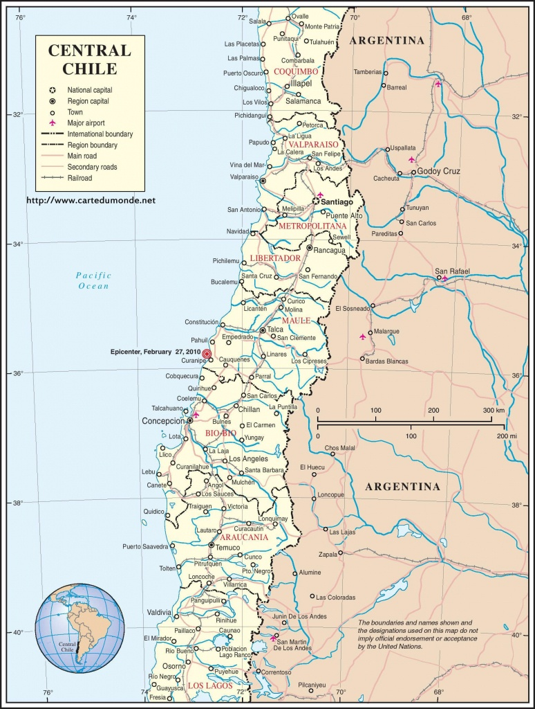 Map Chile, Country Map Chile - Printable Map Of Chile