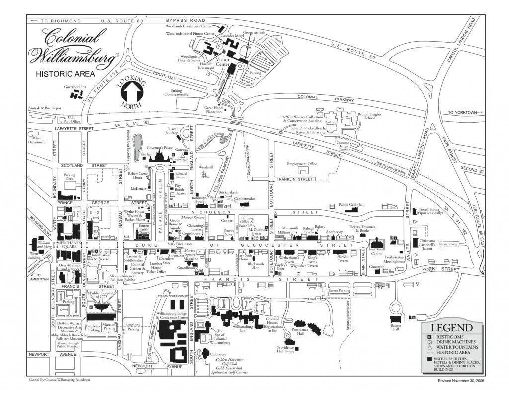 Map Colonial Williamsburg, Va | Give Me Liberty‼ | Colonial - Colonial Williamsburg Printable Map