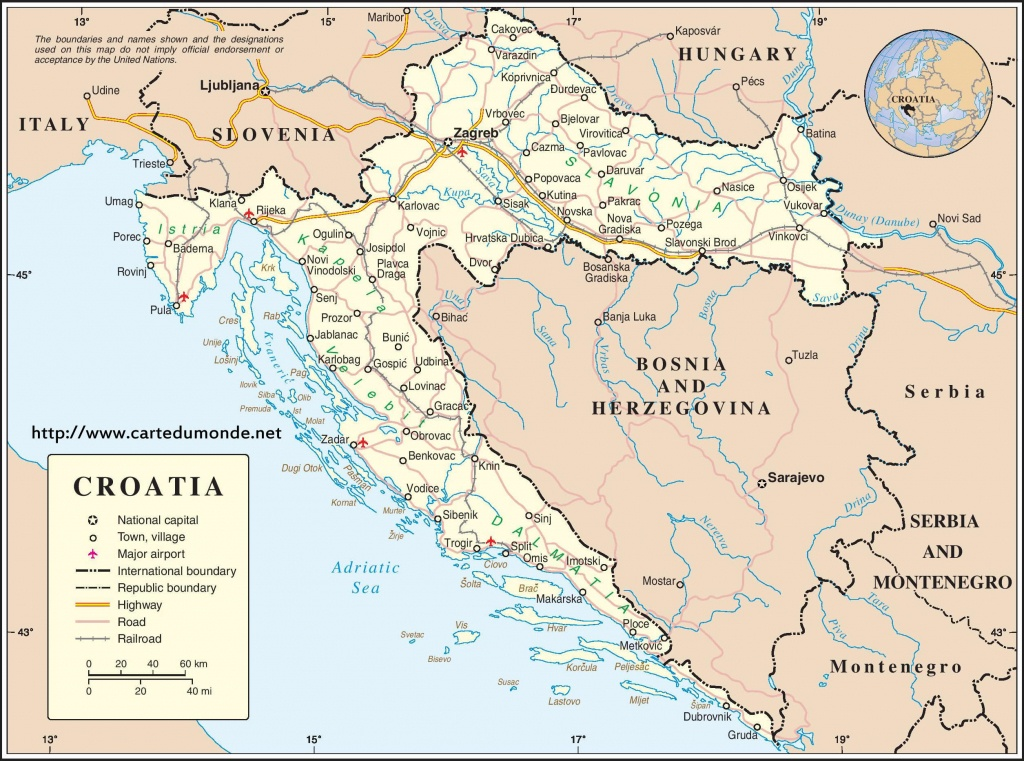 Map Croatia, Country Map Croatia - Printable Map Of Croatia
