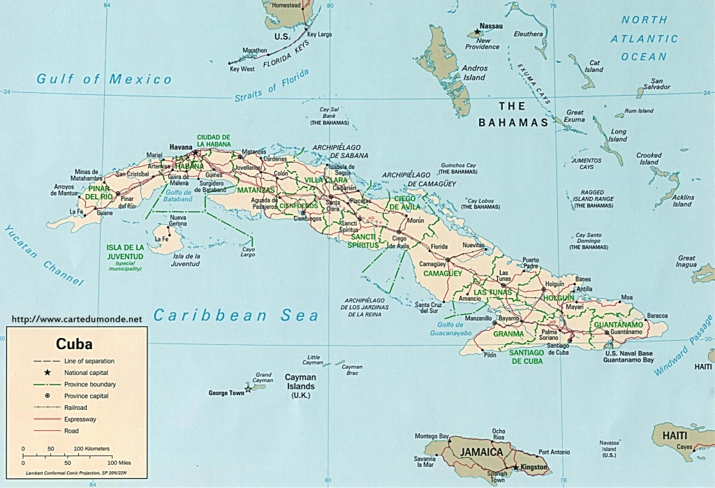 Map Cuba, Country Map Cuba - Printable Map Of Cuba