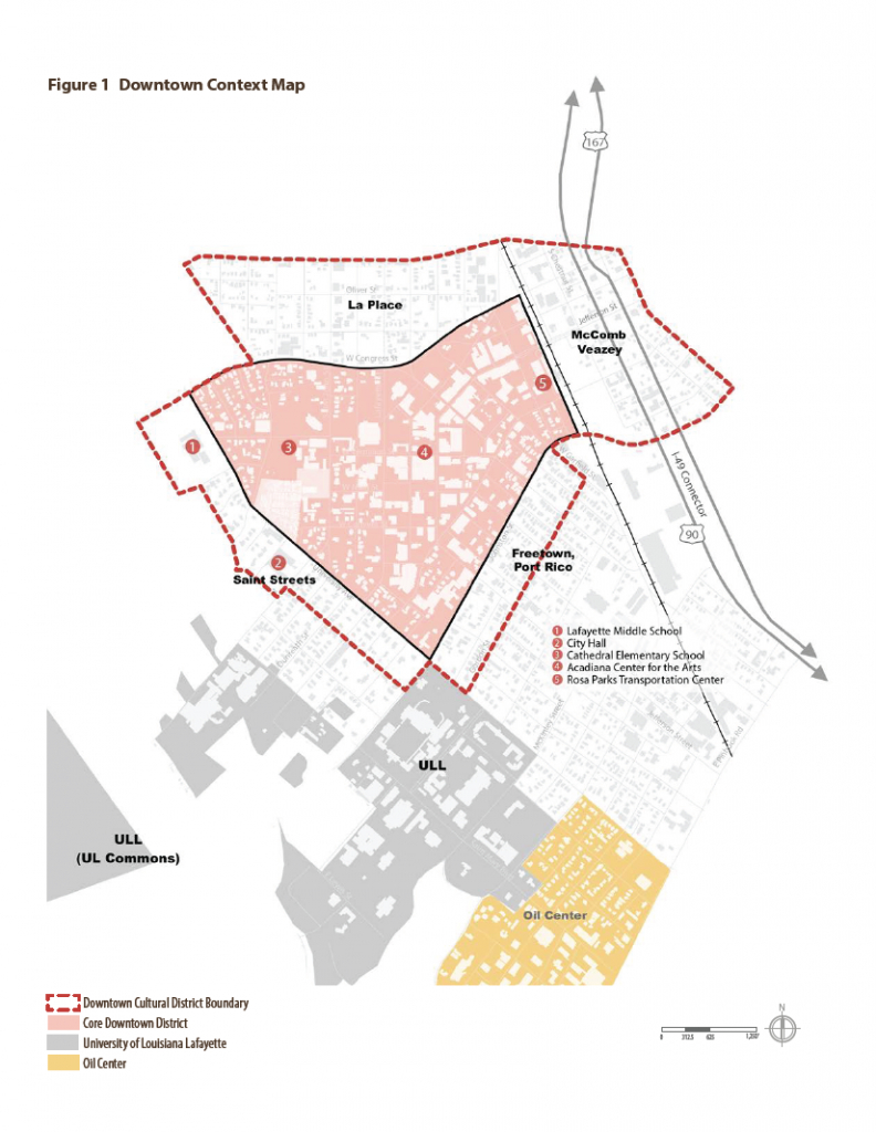 Map | Downtown Development Authority | Lafayette, La - Printable Map Of Lafayette La