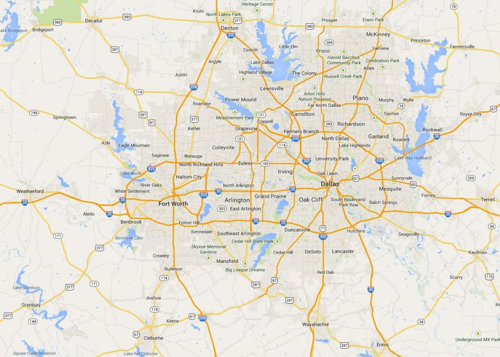 Map Fort Worth - Map Of Fort Worth (Texas - Usa) - Fort Worth Texas Map