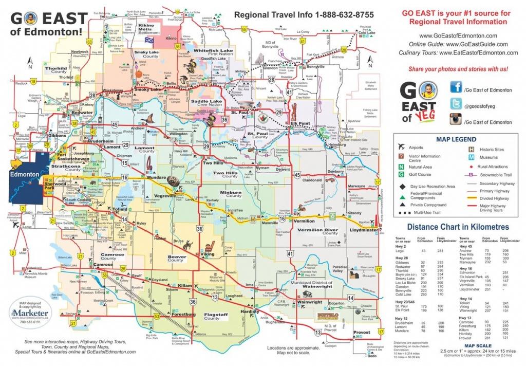 Map - Go East Of Edmonton - Printable Map Of Edmonton