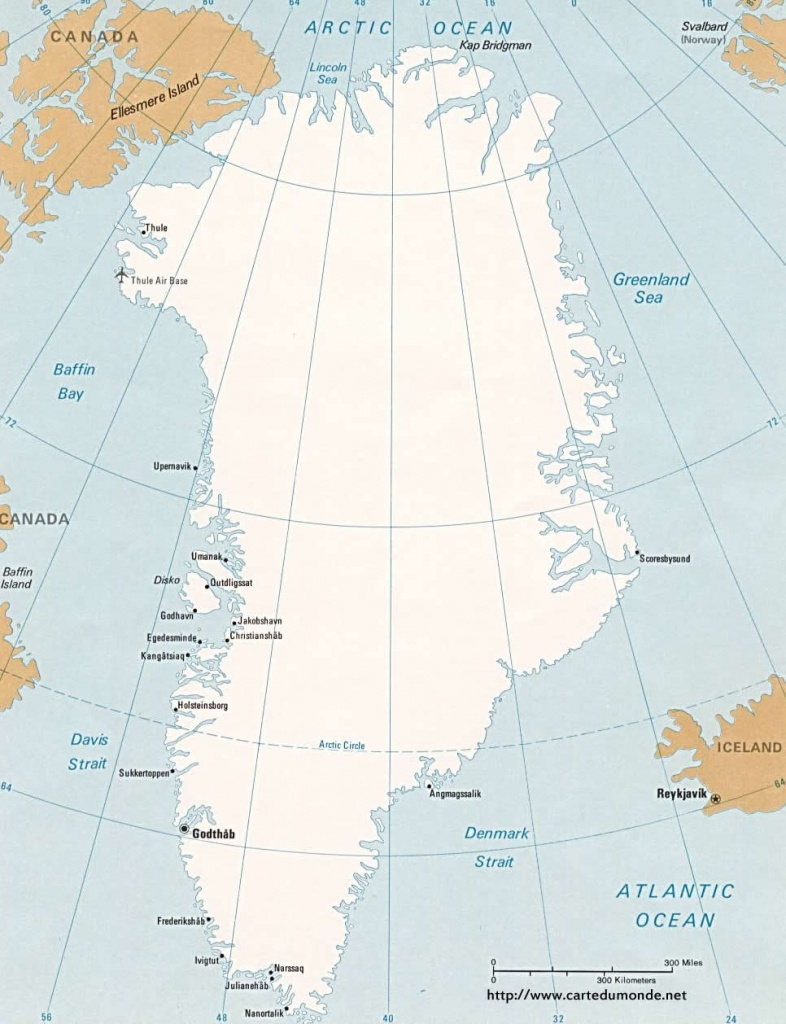 Map Greenland, Country Map Greenland - Printable Map Of Greenland