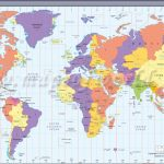 Map In Large Print Of The World Inpinks | Free Printable World Time   Free Printable Satellite Maps